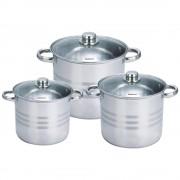 Set de trei vase din inox pentru gatit