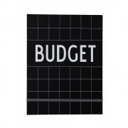 Design Letters Budgetbok, Svart