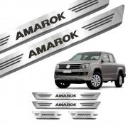 Soleira de Aço Inox Volkswagen Amarok Cab Dupla