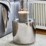 LOBERON Windlicht Hanley / helder/zilverkleurig