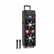 Auna DisGo Box 2100 système de sono 100 W RMS BT lecteur SD LED USB batterie noir