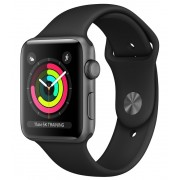 Watch, Apple Series 3 GPS, 42mm Space Grey Aluminium Case with Black Sport Band (MTF32BS/A)