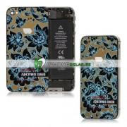 iPhone 4S Bakstycke Denis Simachev Design (Svart)