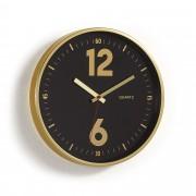 Kave Home Reloj de pared Mentha dorado