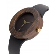 Analog Watch Leather & Blackwood / No Hour Markings Watch L
