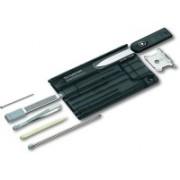 Victorinox SWISSCARD QUATTRO, ONYX TRANSLUCENT, GIFT BOX 7 Function Multi Utility Swiss Knife(Black)