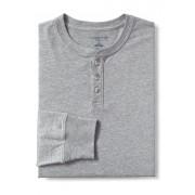ランズエンド LANDS' END メンズ・スーパーT/ヘンリーネック/長袖/Tシャツ(グレーヘザー)