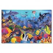 Melissa Doug puzzle de podea viata subacvatica