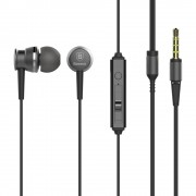 BASEUS Lark Series 3.5mm Wired In-ear Earphone with Mic for iPhone Samsung Sony - Grey