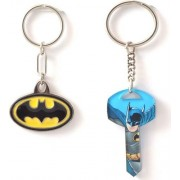 Warner Bros. combo of 2 keychains (Batman Metal Keychain M 243 & Batman KEY P 249)