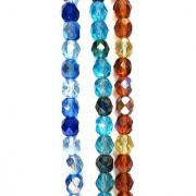 Bead Concepts Czech Glass Fire Polished Mix Beads 7mm Mixed