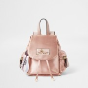 river island Womens Pink satin drawstring backpack (One Size)
