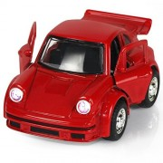 Toy Diecast Car Play Vehicles, Classic Diecast Model Cars, Old Car Models, Moving Vehicle Toys, Pull Back Action with Lights and Sounds 1:38 - iPlay, iLearn (Red)