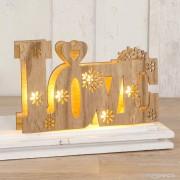 Love en madera con luces led