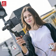zhi yun Zhiyun Official Smooth Q 3-Axis 360 Motors Degree Moving Handheld Gimbal stabilizer Phone Stabilizer for iPhone 8 X