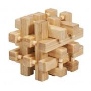 Joc logic IQ din lemn bambus in cutie metalica-2