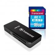 Transcend 16 GB Wi-Fi SDHC Class 10 Memory Card (TS16GWSDHC10)
