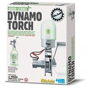 Green Science Dynamo Torch Experiment Kit for Home kid School Lab Project For Ages 3+