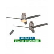 CasaFan Ventilador De Techo Con Luz Casafan 93132334 Aerodynamix Eco 132 Bn Gris Oscuro/ Cromo Cepillado