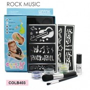 Waterproof Sparkle Glitter Tattoo Kit Body Art with 4 Glitters and 11 reusable stenciles