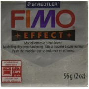 Fimo Soft Polymer Clay 2 Ounces-8020-812 Glitter Silver