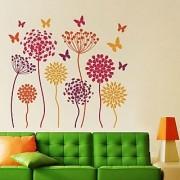 Walltola Wall Sticker-Fun Flowers And Butterflies 6963 (Finished Size 100cm x 100cm)