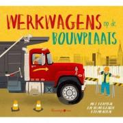 Peuterboek met bewegende elementen: Werkwagens op de bouwplaats - Peter Bently