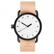 TID Watches-No.1 Armbandsur 40 mm, Vit/Natural Läderarmband