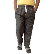 AH Mens Boys Black Color Poly Cotton Zipped Pockets Solid Track Pant (SIZE XXL)