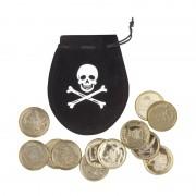 Geen Piraten muntjes met buidel