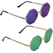 zekonis Oval Sunglasses(Blue)