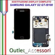 Sostituzione Display Samsung Galaxy S2 I9100 Lcd Vetro Schermo Rotto Riparazione Cambio Assemblaggio GT-I9100