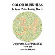 Color Blindness Ishihara Vision Testing Charts Optometry Color Deficiency Test Book With Numbers: Ishihara Plates for Testing All Forms of Color Blind, Paperback/Science Monkey