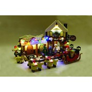 Santa's Workshop Lighting Kit for Lego 10245 Set (LEGO set Not Included) by Brick Loot