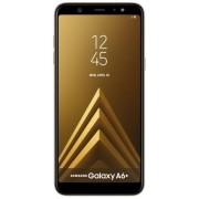 "Telefon Mobil Samsung Galaxy A6+ (2018), Procesor Octa-Core 1.8GHz, Super AMOLED capacitive touchscreen 6"", 3GB RAM, 32GB Flash, Camera Duala 16+5MP, 4G, Wi-Fi, Android (Auriu) + Cartela SIM Orange PrePay, 6 euro credit, 6 GB internet 4G, 2,000 minute nat"