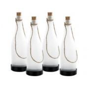 Lunartec 4 bouteilles à LED solaires - couleur changeante