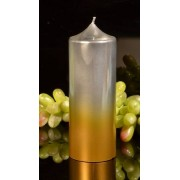 Candles by Milanne XXL Klok kaars, GOUD-ZILVER, hoogte 19 cm - kaarsen