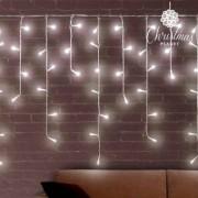 Vit istapp julbelysningen (200 LED)