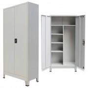 vidaXL szürke 2 ajtós acél öltözőszekrény 90 x 40 x 180 cm