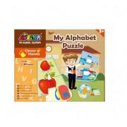 Set 26 puzzle-uri MomKi Alfabet 52 piese