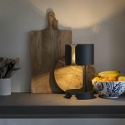 QAZQA Lampe de table Waltz noir