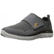 Skechers Sport Men's Flex Advantage 2. 0 Gurn Fashion Sneaker, Charcoal/Orange, 13 M US