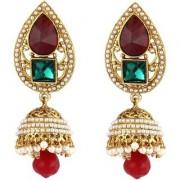 Penny Jewels Alloy Party Wear Traditional Gold Plated Fancy Jhumki Earring Set For Women Girls