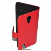 Toc Portofel Piele Ecologica Samsung i9190 Galaxy S4 Mini Rosu