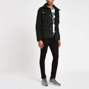 Superdry Mens Superdry Black army jacket (XS)