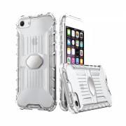 Husa silicon cu placuta metalica pentru suport magnetic Iphone 7/8, transparent