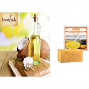 Pure and Natural Rajapuri Coconut Oil - 100ml with Argussy Orange and Safflower Whitening Spa Soap