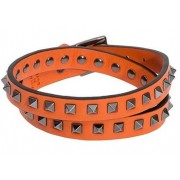 Valentino Garavani Leather Bracelet Orange