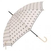 Clayre & Eef JZUM0012BE Esernyő 98x55cm, krém-szürke csillagos