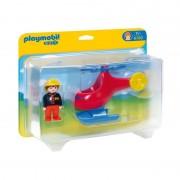 Playmobil 1.2.3 elicottero dei pompieri 6789